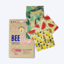 Bee Wrap pack original film alimentaire réutilisable cire d'abeille