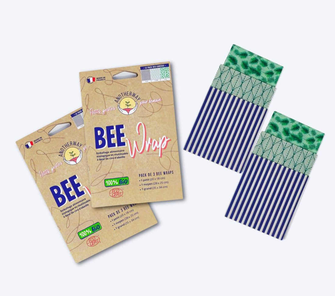 emballage alimentaire bio bee's wraps