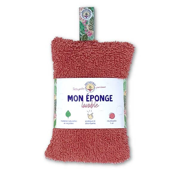 ecological washable sponge coral colour anotherway